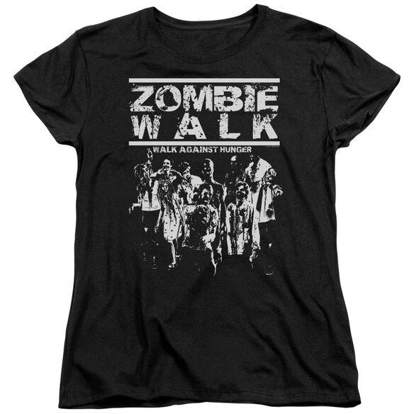 Zombie Walk Short Sleeve Womens Tee T-Shirt