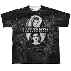 Labyrinth Maze Short Sleeve Youth Poly Crew T-Shirt