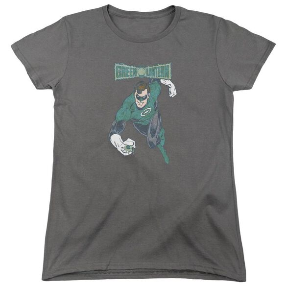 Dco Desaturated Green Lantern Short Sleeve Womens Tee T-Shirt