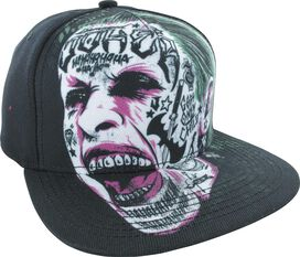 Suicide Squad Joker Sublimated Face Snapback Hat