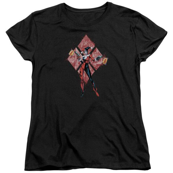 Batman Harley Quinn (Diamonds) Short Sleeve Womens Tee T-Shirt