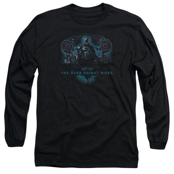 Dark Knight Rises Gothams Dark Knight Long Sleeve Adult T-Shirt