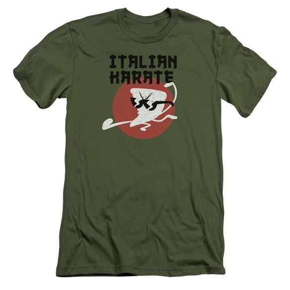 Uncle Grandpa Italian Karate Short Sleeve Adult Military T-Shirt