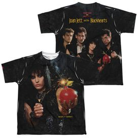 Joan Jett Cherry Bomb (Front Back Print) Short Sleeve Youth Poly Crew T-Shirt