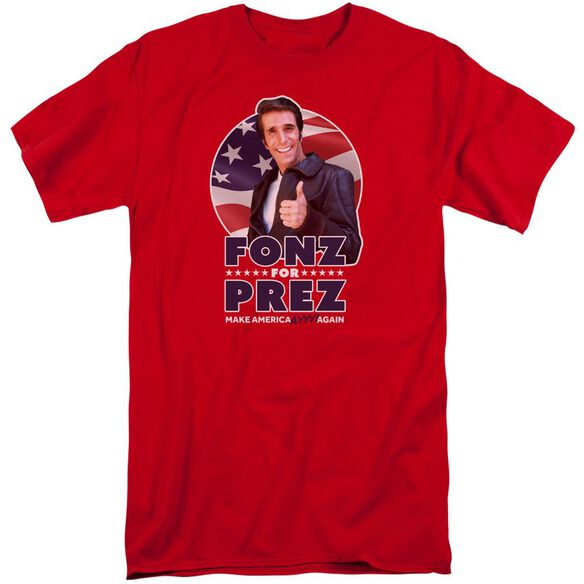 Happy Days Fonz For Prez Short Sleeve Adult Tall T-Shirt