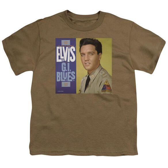 Elvis G I Blues Album Short Sleeve Youth Safari T-Shirt