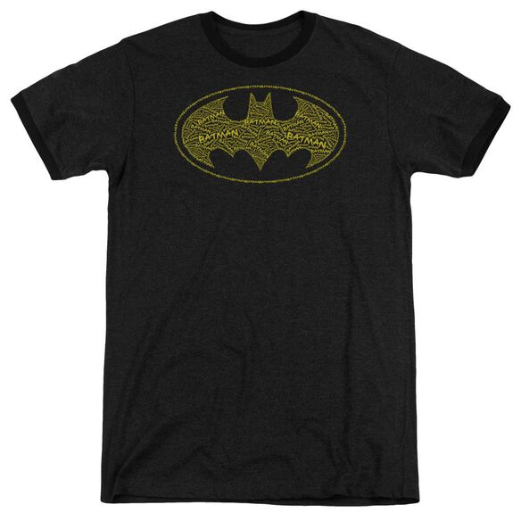 Batman Type Logo Adult Heather Ringer