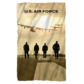 Air Force Long Walk Fleece Blanket