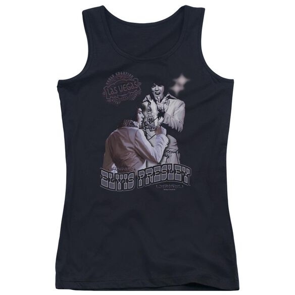 Elvis Presley Violet Vegas Juniors Tank Top