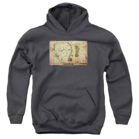 The Hobbit Middle Earth Map Youth Pull Over Hoodie