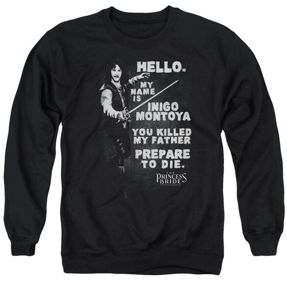 Princess Bride Hello Again Adult Crewneck Sweatshirt
