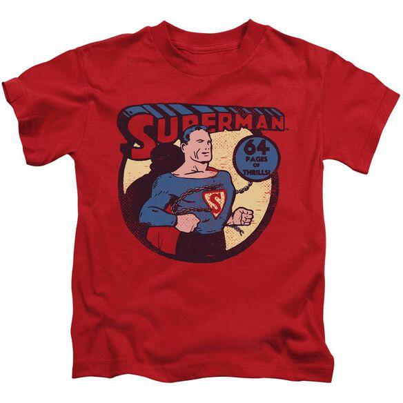 Dc Superman 64 Short Sleeve Juvenile Red T-Shirt