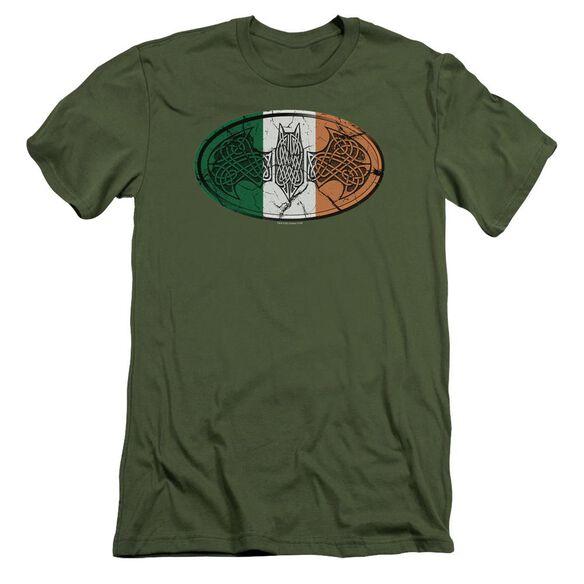 Batman Irish Celtic Symbol Short Sleeve Adult Military T-Shirt