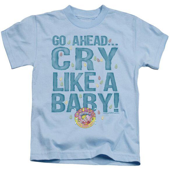 Dubble Bubble Cry Like A Baby Short Sleeve Juvenile Light Blue Md T-Shirt