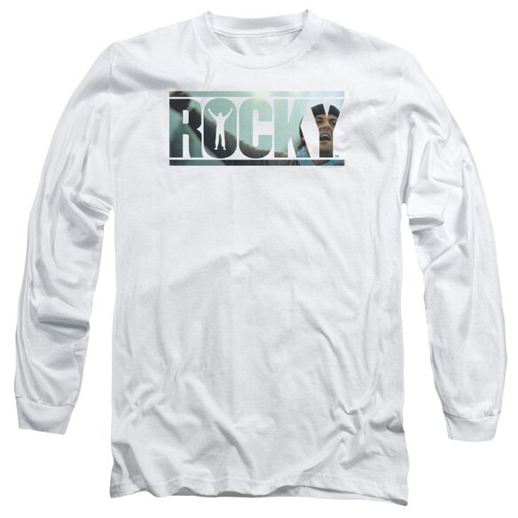 Rocky Cutout Logo Long Sleeve Adult T-Shirt