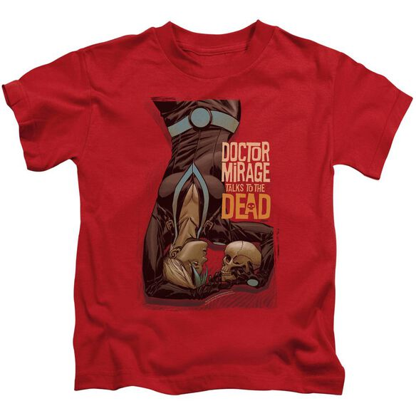 Doctor Mirage Talks To The Dead Short Sleeve Juvenile Red T-Shirt