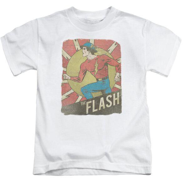 Dc Flash Tattered Poster Short Sleeve Juvenile T-Shirt