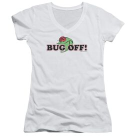 Garden Bug Off Junior V Neck T-Shirt