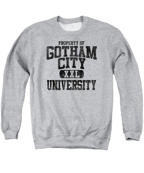 Batman Property Of Gcu Adult Crewneck Sweatshirt Athletic