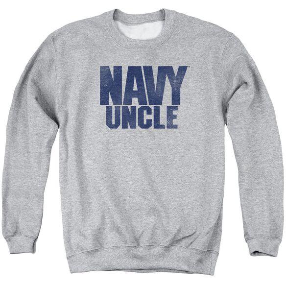 Navy Uncle Adult Crewneck Sweatshirt Athletic