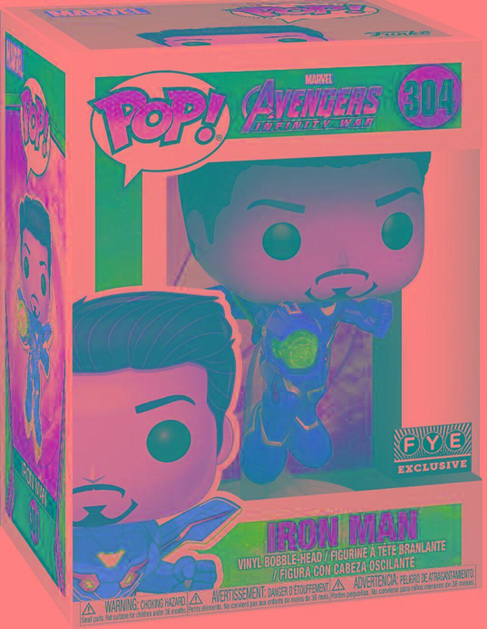 Funko Pop Avengers Infinity War Unmasked Iron Man Fye
