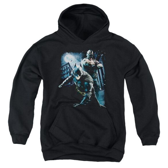 Dark Knight Rises Battlefield Gotham Youth Pull Over Hoodie