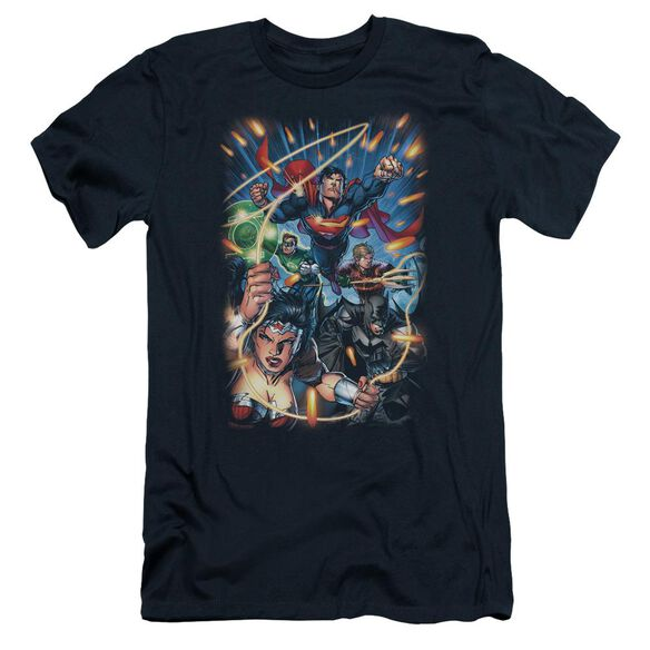 Jla Under Attack Short Sleeve Adult T-Shirt