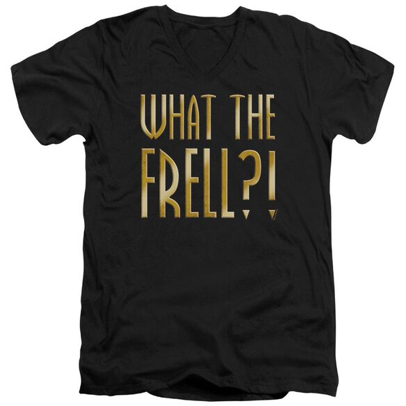 Farscape What The Frell Short Sleeve Adult V Neck T-Shirt