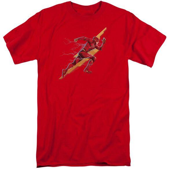 Justice League Movie Flash Forward Short Sleeve Adult Tall T-Shirt