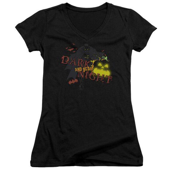 Batman Dark And Scary Night Junior V Neck T-Shirt