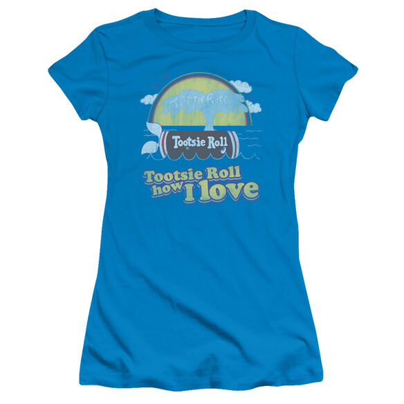 TOOTSIE ROLL JINGLE - S/S JUNIOR SHEER - TURQUOISE T-Shirt
