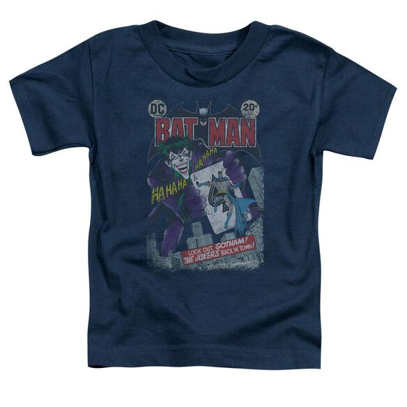 Batman #251 Distressed Short Sleeve Toddler Tee Navy T-Shirt