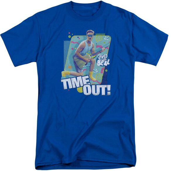 Saved By The Bell Time Out Short Sleeve Adult Tall Royal T-Shirt
