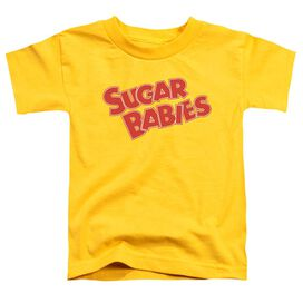 Tootsie Roll Sugar Babies Short Sleeve Toddler Tee Yellow Lg T-Shirt