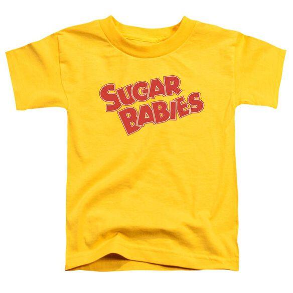 Tootsie Roll Sugar Babies Short Sleeve Toddler Tee Yellow Lg T-Shirt