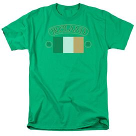 Ireland Flag Short Sleeve Adult Hunter Green T-Shirt