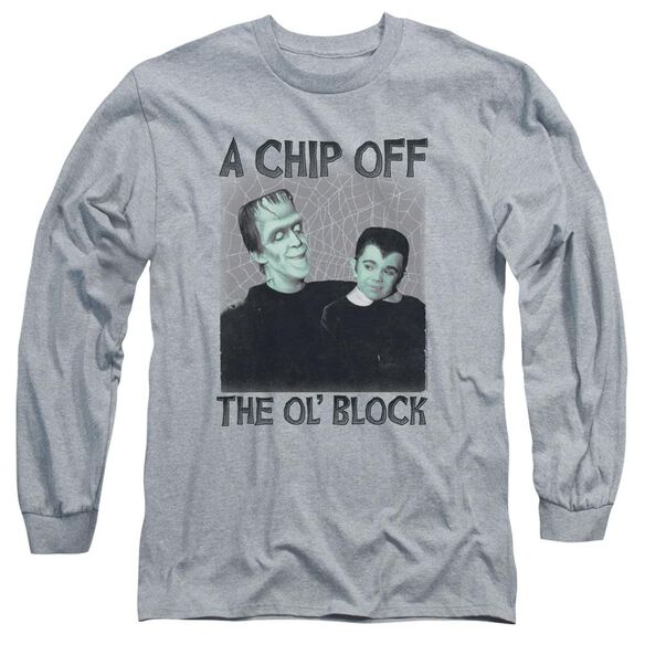 The Munsters Chip Long Sleeve Adult Athletic T-Shirt