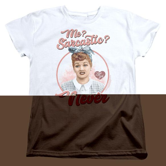 I Love Lucy Sarcastic Short Sleeve Women's Tee T-Shirt