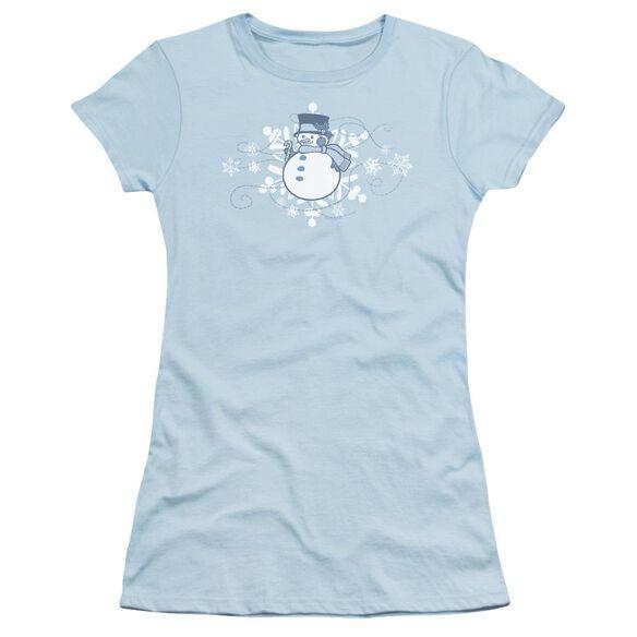 Winter Day Short Sleeve Junior Sheer Light T-Shirt