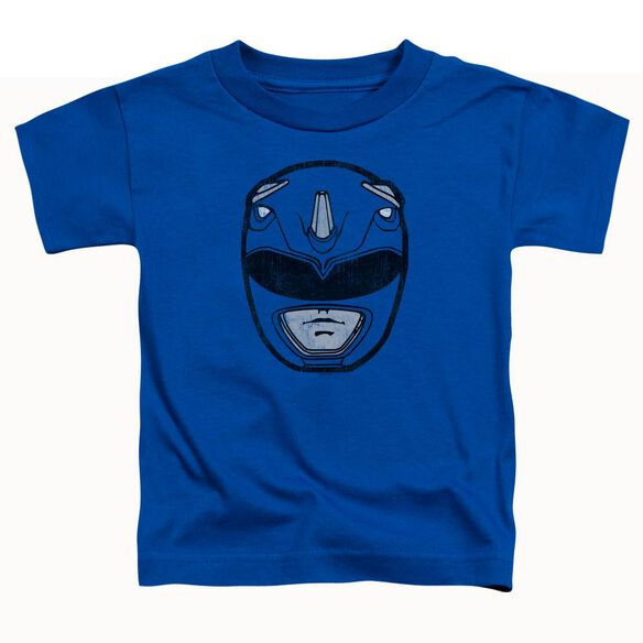 Power Rangers Blue Ranger Mask Short Sleeve Toddler Tee Royal Blue T-Shirt
