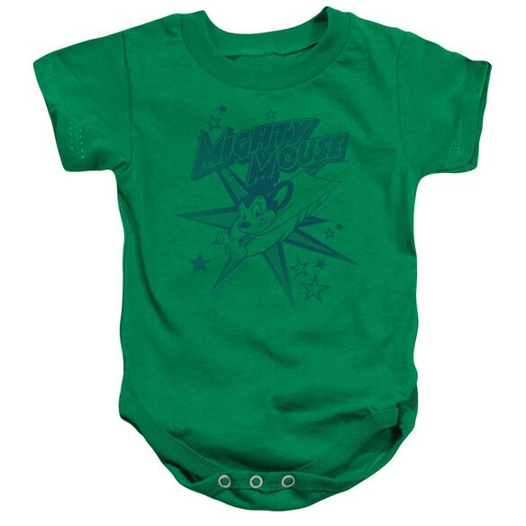 Mighty Mouse Mighty Mouse Infant Snapsuit Kelly Green Md