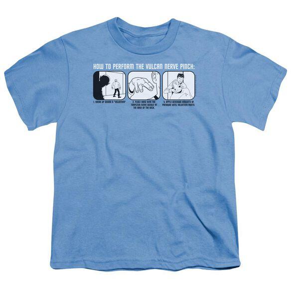 St:Original Vulcan Nerve Pinch Short Sleeve Youth Carolina T-Shirt