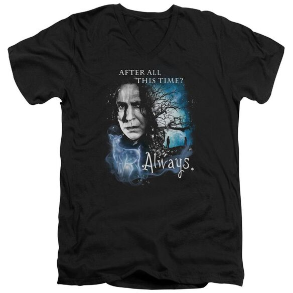 Harry Potter Always Short Sleeve Adult V Neck T-Shirt