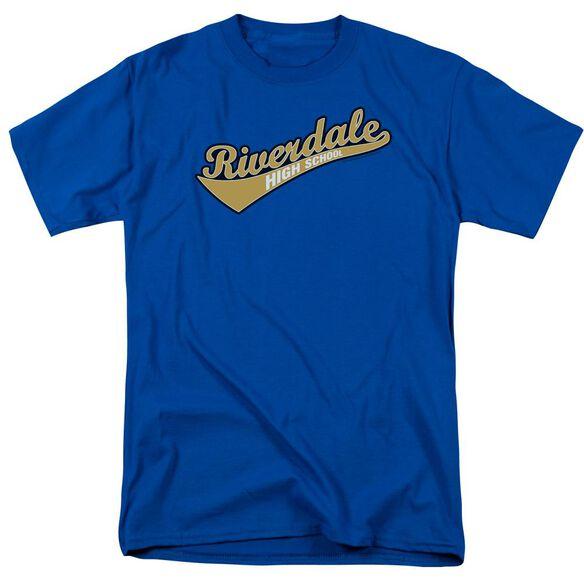 Archie Comics Riverdale High School Short Sleeve Adult Royal Blue T-Shirt