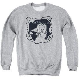 Courage The Cowardly Dog Ghost Frame Adult Crewneck Sweatshirt Athletic