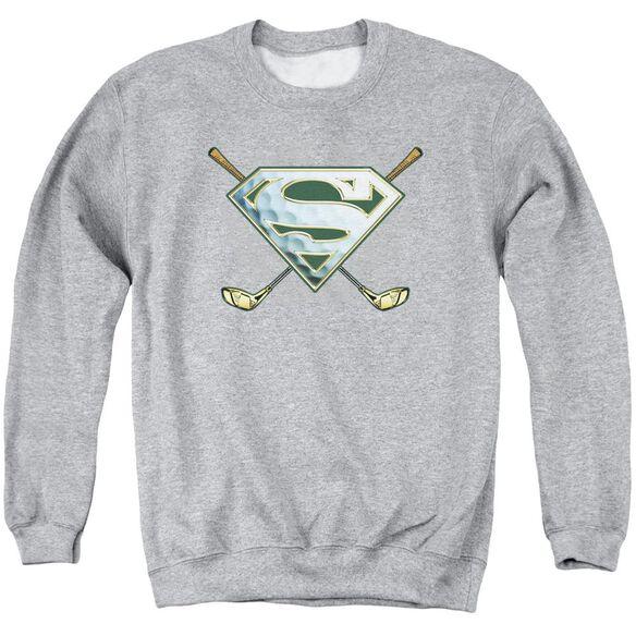 Superman Fore! Adult Crewneck Sweatshirt Athletic