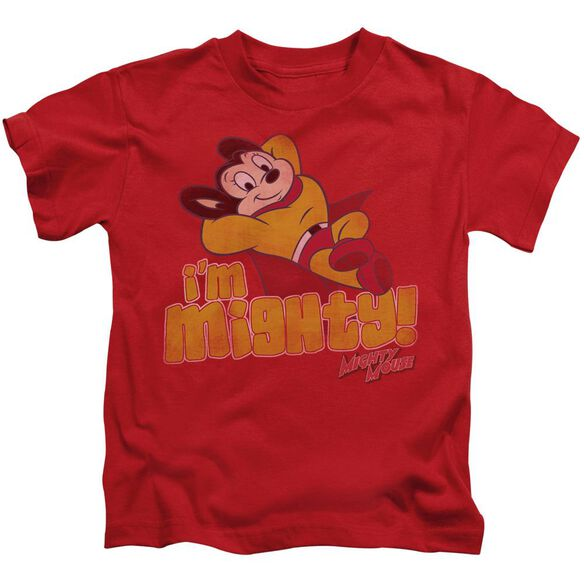 Mighty Mouse I'm Mighty Short Sleeve Juvenile Red T-Shirt