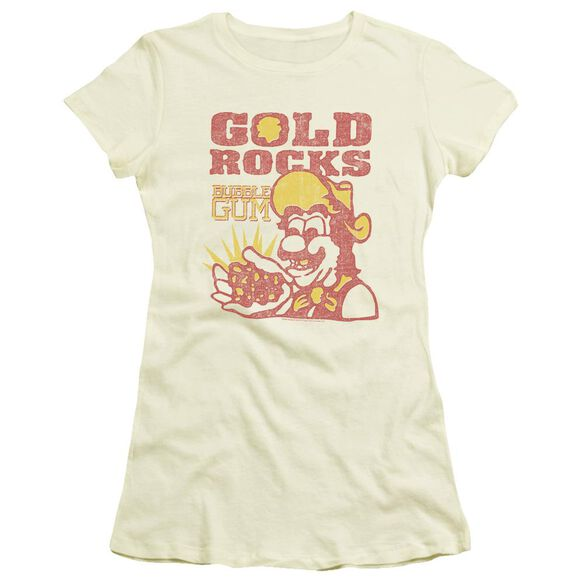 Dubble Bubble Gold Rocks Short Sleeve Junior Sheer T-Shirt