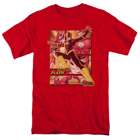 Jla Flash Short Sleeve Adult T-Shirt