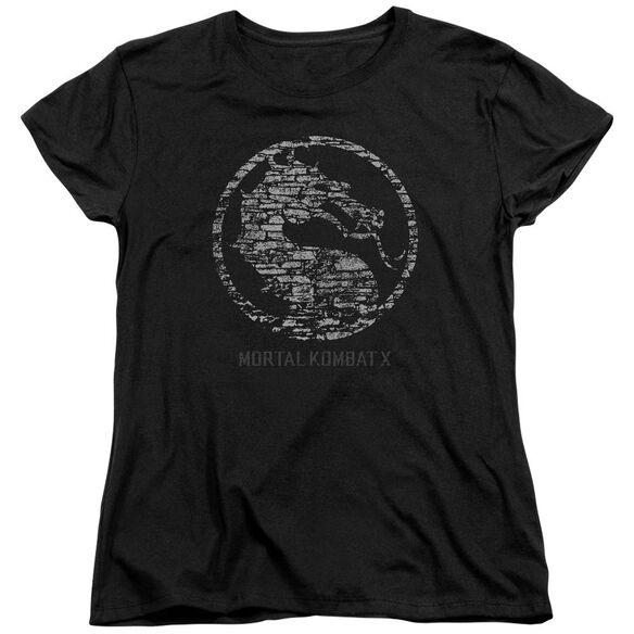 Mortal Kombat Stone Seal Short Sleeve Womens Tee T-Shirt